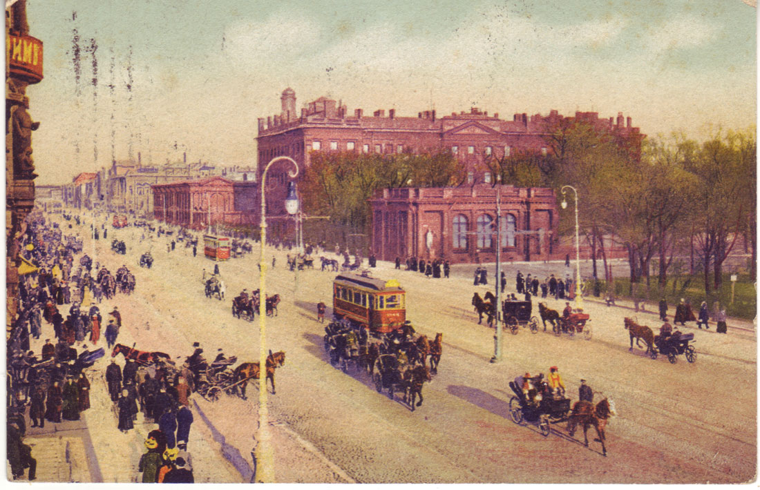 Russian postcard. St. Petersburg. Nevsky Prospect ...: http://www.ebay.com/itm/Russian-postcard-St-Petersburg-Nevsky-Prospect-Anichkov-Palace-/321242860616
